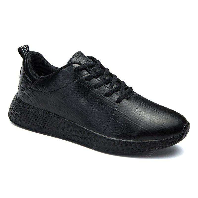 BLACK 40 Light Solid Fashion Leisure Shoes