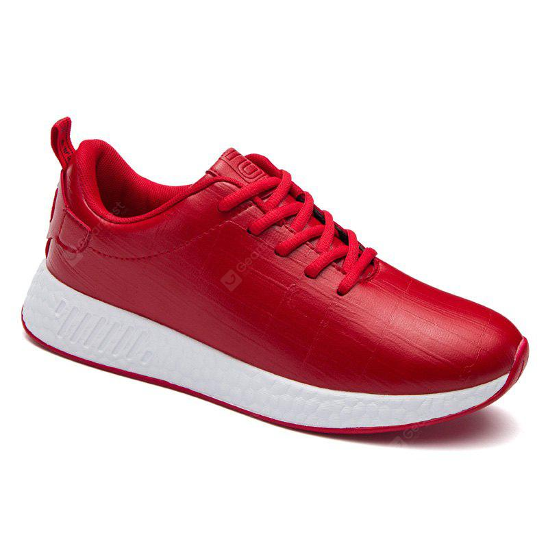 RED 42 Light Solid Fashion Leisure Shoes