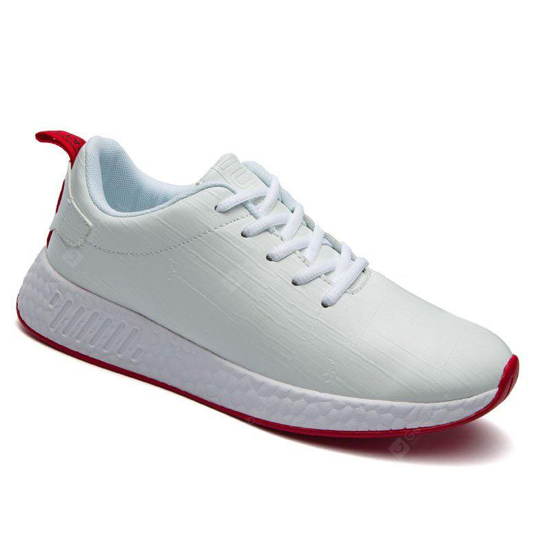 WHITE 41 Light Solid Fashion Leisure Shoes