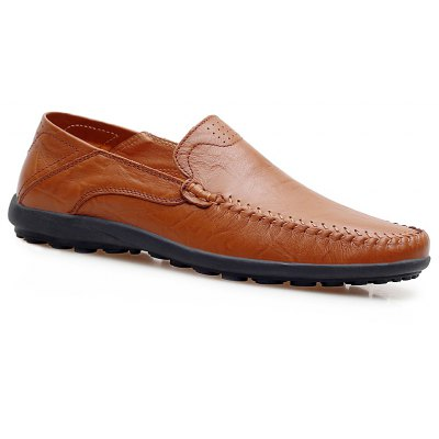 Comfortable Breathable Leather Casual Shoes All-Match Low To Pull The Cart