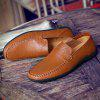 Comfortable Breathable Leather Casual Shoes All-Match Low To Pull The Cart - BROWN
