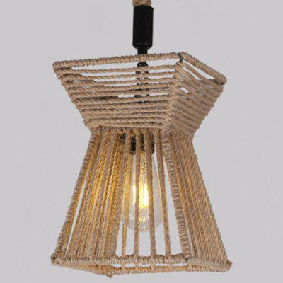 Buy EARTHY MS 19 E27 / E26 Base Nordic Hemp Rope Twine Retro Antique Dangling Lamp Vintage Pendant Light Fixtures for $60.99 in GearBest store