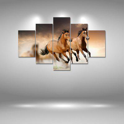 Horses Running Canvas Print Painting Home Decoration Wall Art Picture 5PCS