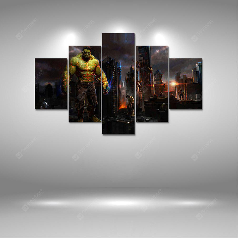 Hulk World Canvas Print Painting Decoración del hogar Wall Art Picture 5PCS