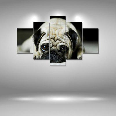 Pug Puppy Canvas Print Painting Home Decoration Wall Art Picture 5PCS