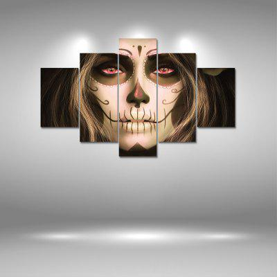 Skull Face Canvas Print Painting Home Decoration Wall Art Picture 5PCS