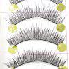5 em 1 Handmade Black Natural Long e Lower False Eyelash Tool Kit Suit - PRETO