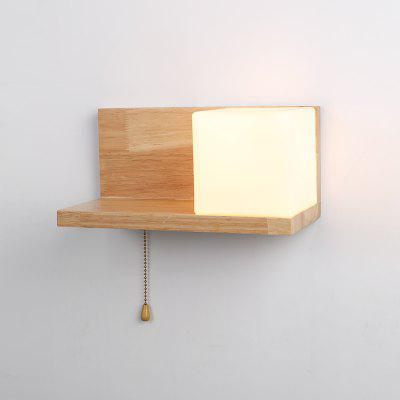 Lazada Wood Wall LightS with Frosted Glass
