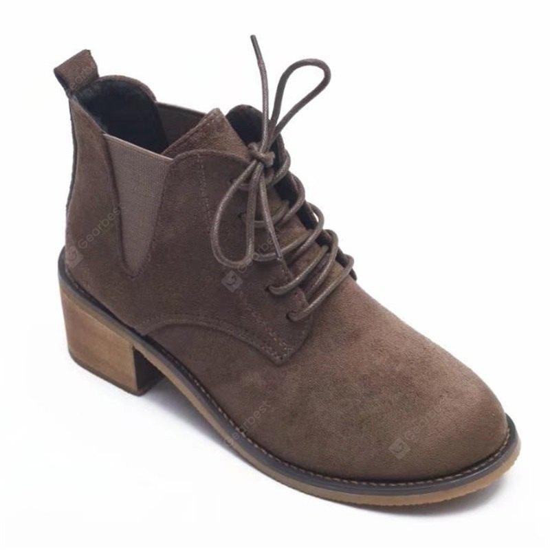SYE-8898 Round Tie with Martin All-match Thick Boots