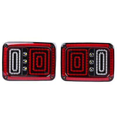 Buy RED EU Edition Reverser Brake Turn Signal LED Rear Tail Light for Jeep Wrangler for $88.94 in GearBest store