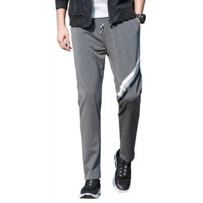 Men's Color Straight Tube Sports Casual Pants