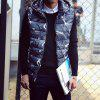 Lover's Style Trend Camouflage Pattern Hooded Waistcoat Vest - BLUE