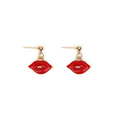 Creative Models Red Sexy Lips Necklace Earrings Bracelet Jewelry Set