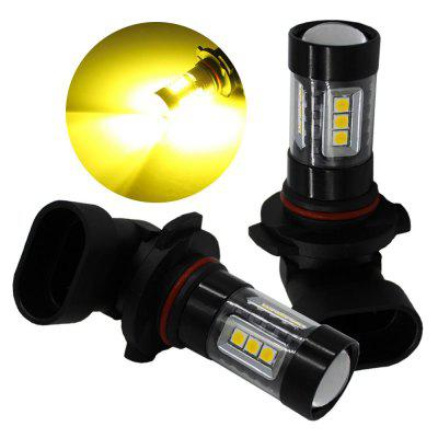 2PCS 9006 Features 80W SMD 3030 High Power LED Car Fog Lamp