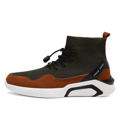 Men Casual Fashion Outdoor Mesh Breathable Lace Up Athletic Solid Flat ShoesFlats &amp; Loafers<br>Men Casual Fashion Outdoor Mesh Breathable Lace Up Athletic Solid Flat Shoes<br><br>Available Size: 39-44<br>Closure Type: Lace-Up<br>Feature: Height Increasing<br>Gender: For Men<br>Outsole Material: Rubber<br>Package Contents: 1?Shoes(pair)<br>Pattern Type: Solid<br>Season: Winter<br>Upper Material: Stretch Fabric<br>Weight: 1.2000kg