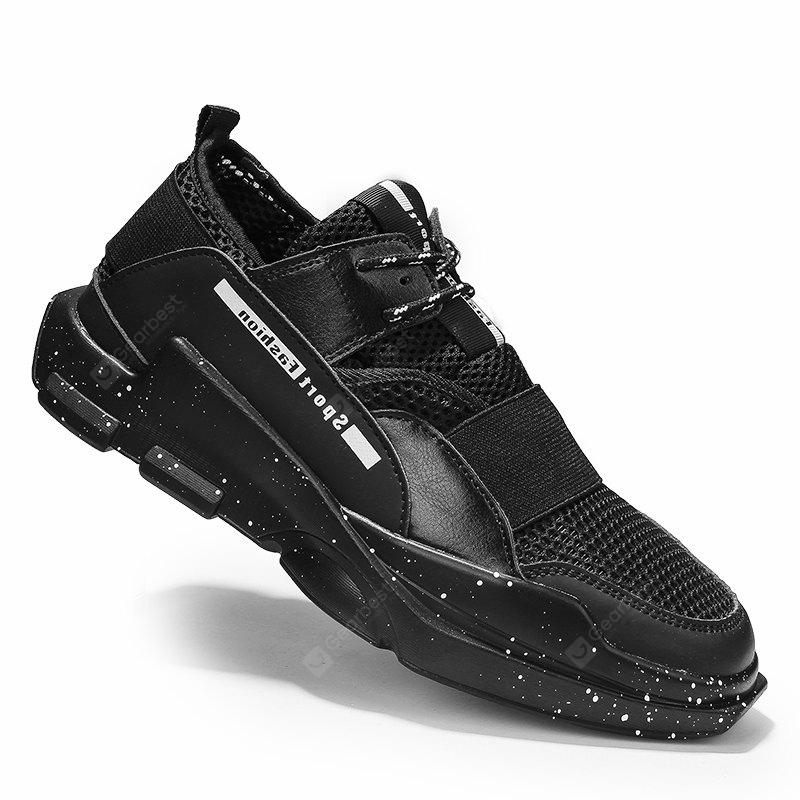 Hommes Casual Fashion Mesh respirant Lace Up chaussures plates solides athlétiques