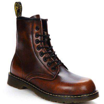 Buy BROWN 37 Hiking Women Shoes Plus Fur Mountain Outdoor High Top Genuine Leather Boots for $56.73 in GearBest store