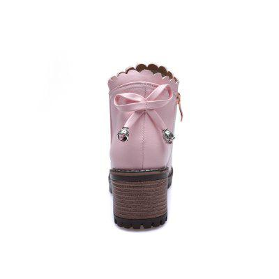 Bow Knot Round Head Student Heel BootsWomens Boots<br>Bow Knot Round Head Student Heel Boots<br><br>Boot Height: Ankle<br>Boot Tube Circumference: 24<br>Boot Tube Height: 10<br>Boot Type: Fashion Boots<br>Closure Type: Zip<br>Embellishment: Bow<br>Gender: For Women<br>Heel Height: 6<br>Heel Height Range: Med(1.75-2.75)<br>Heel Type: Chunky Heel<br>Insole Material: PU<br>Lining Material: Cotton Fabric<br>Outsole Material: Rubber<br>Package Contents: 1xShoes?pair?<br>Pattern Type: Solid<br>Season: Spring/Fall, Winter<br>Shoe Width: Medium(B/M)<br>Toe Shape: Round Toe<br>Upper Material: PU<br>Weight: 0.8500kg