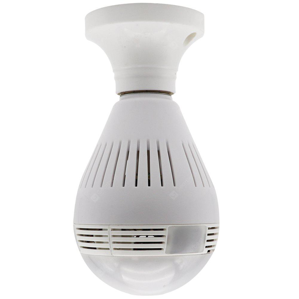Colorful All Day 360 Degree WiFi Wireless P2P Night Vision Security Panoramic IP Camera with IR and White LED Bulb Cam