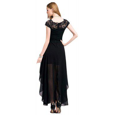 Womens Fashion Lace Splicing Chiffon Short Sleeve Solid Long DressMaxi Dresses<br>Womens Fashion Lace Splicing Chiffon Short Sleeve Solid Long Dress<br><br>Dresses Length: Ankle-Length<br>Elasticity: Elastic<br>Embellishment: Lace<br>Fabric Type: Chiffon<br>Material: Lace, Cotton Blend<br>Neckline: Boat Neck<br>Package Contents: 1 x Dress<br>Pattern Type: Solid<br>Season: Summer<br>Silhouette: Asymmetrical<br>Sleeve Length: Short Sleeves<br>Style: Bohemian<br>Waist: Natural<br>Weight: 0.3200kg<br>With Belt: No