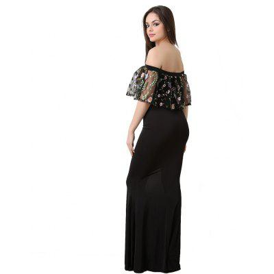 Women Bodycon Embroidery Off the Shoulder Party Long DressMaxi Dresses<br>Women Bodycon Embroidery Off the Shoulder Party Long Dress<br><br>Dresses Length: Ankle-Length<br>Elasticity: Elastic<br>Embellishment: Embroidery<br>Fabric Type: Cotton and kapok hemp<br>Material: Cotton Blend<br>Neckline: Slash Neck<br>Package Contents: 1 x Dress<br>Pattern Type: Floral<br>Season: Fall<br>Silhouette: Sheath<br>Sleeve Length: Sleeveless<br>Sleeve Type: Strapless<br>Style: Sexy &amp; Club<br>Waist: Natural<br>Weight: 0.3000kg<br>With Belt: No