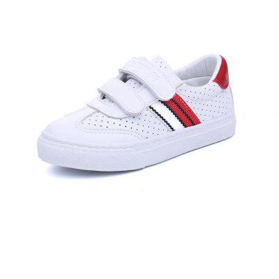 New Trend of Children's Leisure Breathable Hollow Male White Shoes