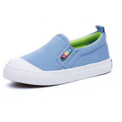 New Canvas Boys and Girls White Shoes Leisure Baby Pure Color Sleeve Feet