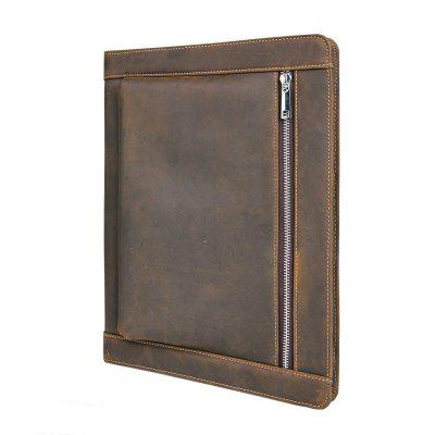 Crazy-Horse Leather Business Portfolio Zipper for iPadPen &amp; Pencils<br>Crazy-Horse Leather Business Portfolio Zipper for iPad<br><br>Available Color: Brown<br>Package Contents: 1 x Portfolio<br>Package size (L x W x H): 33.00 x 26.00 x 3.00 cm / 12.99 x 10.24 x 1.18 inches<br>Package weight: 0.8500 kg<br>Pen Type: Other<br>Type: Pen Holders and Cases