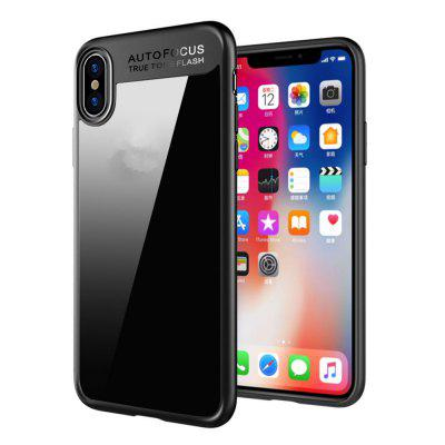 Luxury TPU + Acrylic Transparent Back Cover for iPhone X