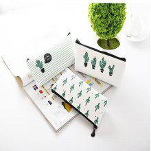 Creative Cute Cactus Pencil Case Stationery Bag
