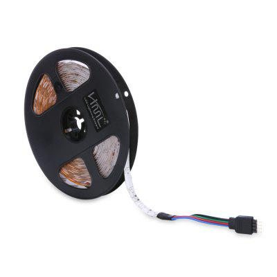 HML 5M 24W SMD2835 300LEDs Waterproof RGB Strip Light with IR 20 Keys Music Remote Control and US Adapter 100 - 240V
