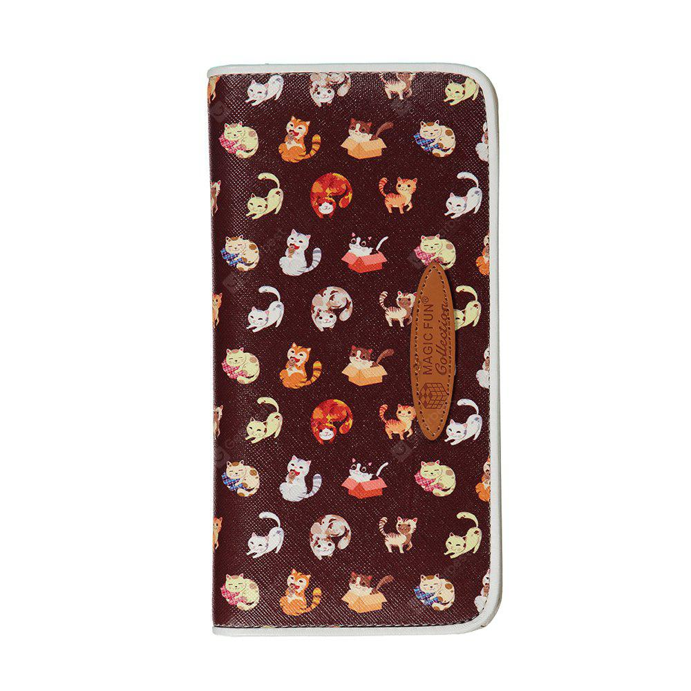 Cartoon Hand-painted Colorful Leather Wallet