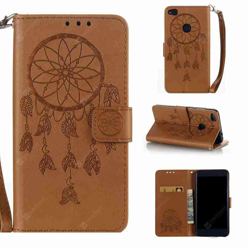 Double Embossed  Dreamcatcher PU TPU Phone Case for HUAWEI P8 Lite 2017