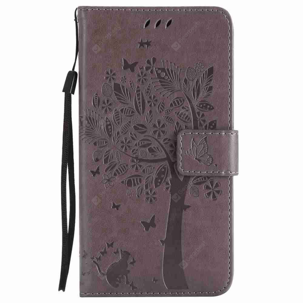 Embossed Cat and Tree PU TPU Phone Case for HUAWEI  Mate 10