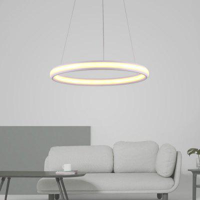 Ever-Flower Max 40W Modern Simple Round LED Pendant Light for Living Dining Room Kitchen