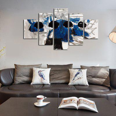 Buy COLORMIX QiaoJiaoHuanYuan No Frame Canvas Abstract ink Blue Decorative Print 5PCS for $32.14 in GearBest store