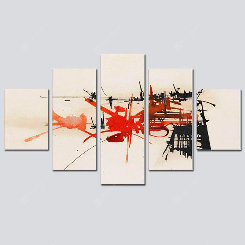 QiaoJiaoHuanYuan No Frame Canvas Simple Abstract Decorative Print 5PCS