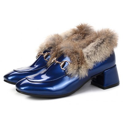 Womens Shoes Thick Heel Fuzz Warm Stylish All-match Ankle BootsWomens Boots<br>Womens Shoes Thick Heel Fuzz Warm Stylish All-match Ankle Boots<br><br>Boot Height: Ankle<br>Boot Type: Riding/Equestrian<br>Closure Type: Slip-On<br>Embellishment: Metal<br>Gender: For Women<br>Heel Height: 4.5<br>Heel Height Range: Med(1.75-2.75)<br>Heel Type: Chunky Heel<br>Package Contents: 1 x Shoes(pair)<br>Pattern Type: Solid<br>Season: Spring/Fall, Winter<br>Toe Shape: Square Toe<br>Upper Material: PU<br>Weight: 1.6588kg