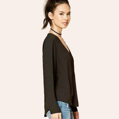 WomenS T Shirt Solid Color V Neck Plus Size T-ShirtTees<br>WomenS T Shirt Solid Color V Neck Plus Size T-Shirt<br><br>Collar: V-Neck<br>Elasticity: Micro-elastic<br>Fabric Type: Chiffon<br>Material: Polyester<br>Package Contents: 1?Tshit<br>Pattern Type: Others<br>Shirt Length: Regular<br>Sleeve Length: Full<br>Style: Fashion<br>Weight: 0.3000kg