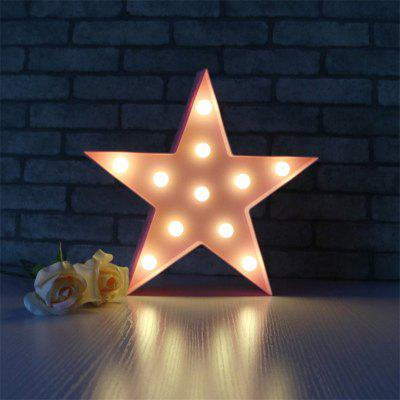 Light Star Shape LED Plastic Light Battery Operated LED for Home Christmas Decoration
