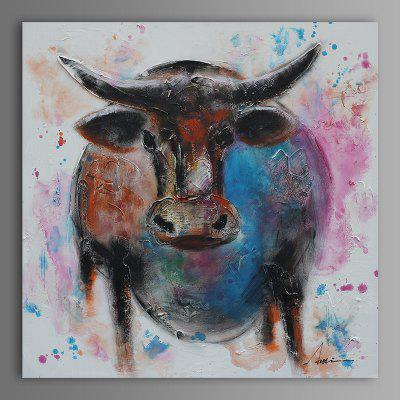XiangYunChengFeng Cattle Modern Canvas Oil Painting