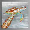 XiangYunChengFeng Abstract Tortoise Home Decor Canvas Oil Painting - COLORMIX
