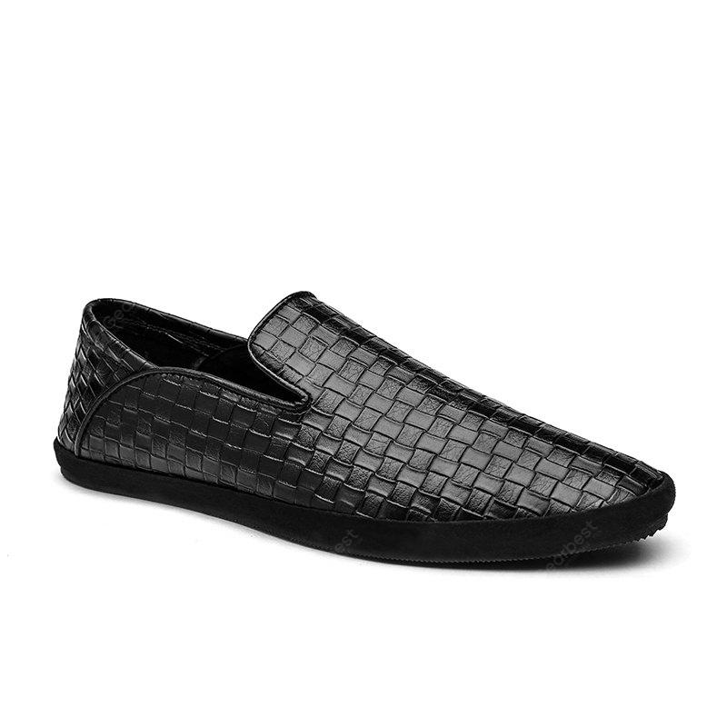 Low Comfort Comfortable Foot Knitted Leather Shoes