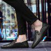 Low Comfort Comfortable Foot Knitted Leather Shoes - BLACK
