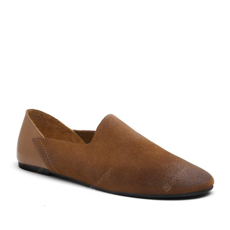 Leather Shoes with Feet Comfort and Comfortable Suede Leather