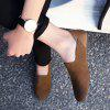 Leather Shoes with Feet Comfort and Comfortable Suede Leather - BROWN