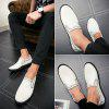 Low Tide All-Match Set Foot Comfort Casual Leather Shoes - WHITE