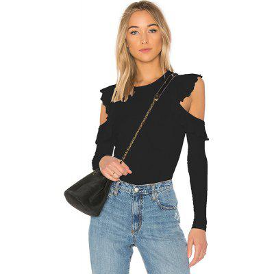 Sexy Round Neck Long Sleeve T-Shirt