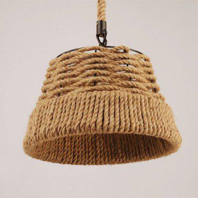 MS - 21 E27 / E26 Base Nordic Hemp Rope Twine Retro Antique Dangling Lamp Vintage Pendant Light FixturePendant Light<br>MS - 21 E27 / E26 Base Nordic Hemp Rope Twine Retro Antique Dangling Lamp Vintage Pendant Light Fixture<br><br>Battery Included: No<br>Bulb Base: E26,E27<br>Bulb Included: No<br>Chain / Cord Adjustable or Not: Chain / Cord Adjustable<br>Chain / Cord Length ( CM ): 80<br>Dimmable: No<br>Features: Designers<br>Fixture Height ( CM ): 32<br>Fixture Length ( CM ): 38<br>Fixture Width ( CM ): 38<br>Package Contents: 1 x Pendant Light, 1 x Assembly Part<br>Package size (L x W x H): 40.00 x 40.00 x 35.00 cm / 15.75 x 15.75 x 13.78 inches<br>Package weight: 2.4000 kg<br>Product size (L x W x H): 38.00 x 38.00 x 32.00 cm / 14.96 x 14.96 x 12.6 inches<br>Product weight: 1.7000 kg<br>Remote Control Supported: No<br>Shade Material: Metal<br>Style: Country, Simple Style, Vintage antique, Artistic Style<br>Suggested Room Size: 10 - 15?<br>Suggested Space Fit: Bedroom,Cafes,Dining Room,Indoors,Kitchen,Living Room,Study Room<br>Type: Pendant Light<br>Wattage (W): 60W