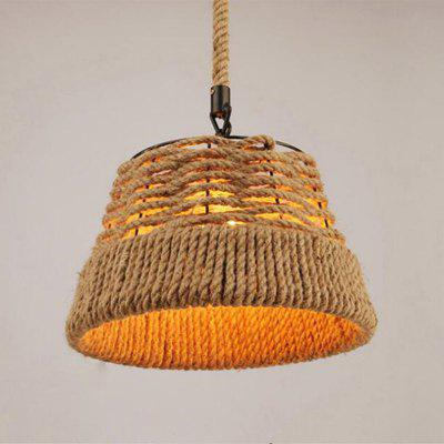 Buy EARTHY MS 21 E27 / E26 Base Nordic Hemp Rope Twine Retro Antique Dangling Lamp Vintage Pendant Light Fixture for $56.16 in GearBest store